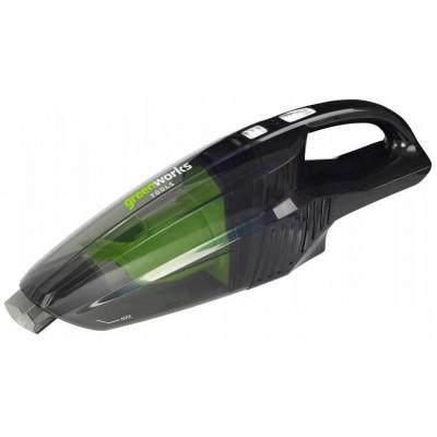 GreenWorks 24V аккумуляторный пылесос ручной, без аккумулятора и зарядного устройства