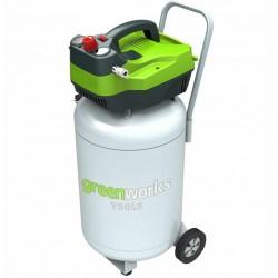 Greenworks электрический воздушный компрессор GAC50V, вертикальный, 1500W, 8 бар