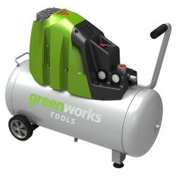 Greenworks электрический воздушный компрессор GAC50L, 1500W, 8 бар