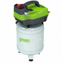 Greenworks электрический воздушный компрессор GAC24V, вертикальный, 1500W, 8 бар