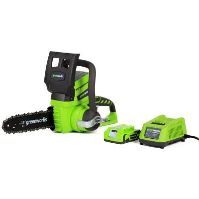 Пила аккумуляторная Greenworks G24CS25 10 (с АБ 24V/2Ah и ЗУ)