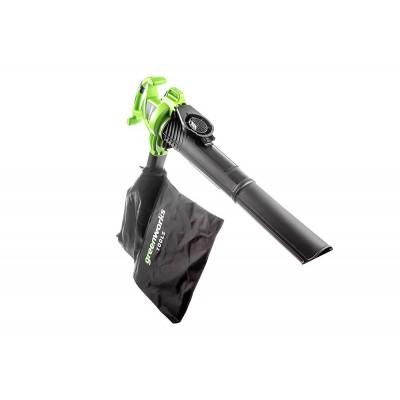 Воздуходувка пылесос электрическая Greenworks GBV2800