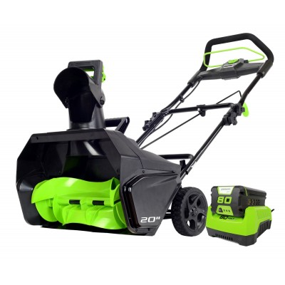 Снегоуборщик аккумуляторный Greenworks GD80SB (с АБ 2Ah и ЗУ)