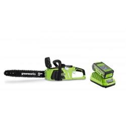 Пила аккумуляторная GreenWorks GD60CS40K2 16 (с АБ 2 Ah и ЗУ)