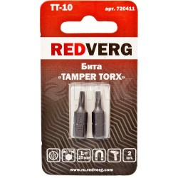 Бита Redverg Torx Tamper 10х25 (2шт.)(720411)