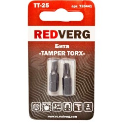 Бита Redverg Torx Tamper 25х25 (2шт.)(720441)