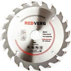 Диск пильный по дереву RedVerg твердосплавный 140х20/16/12.7 мм, 20 зубьев(800021)