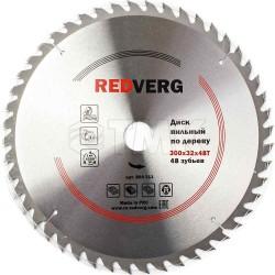 Диск пильный по дереву RedVerg твердосплавный 300х32/30 мм, 48 зубьев(800311)