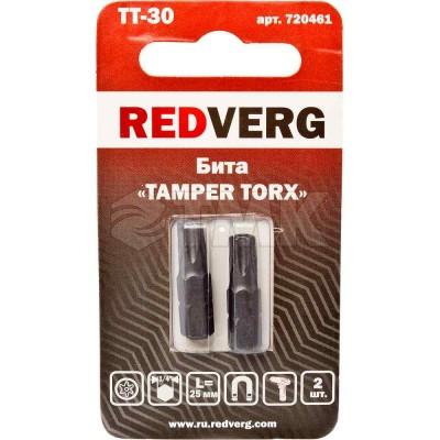 Бита Redverg Torx Tamper 30х25 (2шт.)(720461)