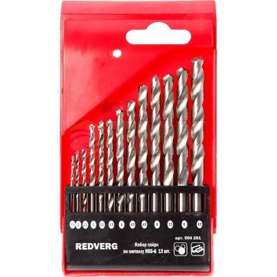 Набор сверл по металлу RedVerg 13 шт HSS-G, 1,5-6,5 мм.(500281)
