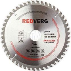 Диск пильный по дереву RedVerg твердосплавный 200х32/30 мм, 48 зубьев