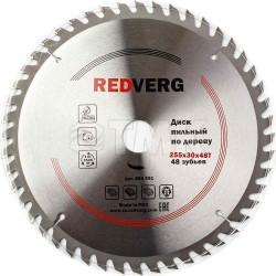 Диск пильный по дереву RedVerg твердосплавный 255х30 мм, 48 зубьев