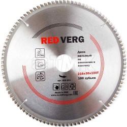Диск пильный по алюминию и пластику RedVerg твердосплавный 216х30 мм, 100 зубьев