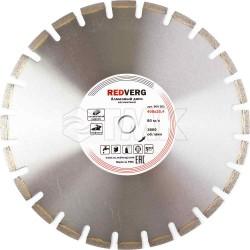 Круг алмазный RedVerg сегментный по асфальту 400х25,4 мм