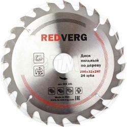 Диск пильный по дереву RedVerg твердосплавный 200х32/30 мм, 24 зуба(800191)