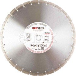 Круг алмазный RedVerg сегментный по бетону 400х25,4 мм(900271)