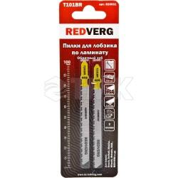 Пилка для лобзика Redverg по ламинату дереву, ДСП, T101BR обратный зуб, HCS (2шт )(820031)