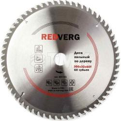 Диск пильный по дереву RedVerg твердосплавный 300х32/30 мм, 60 зубьев(800321)
