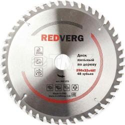 Диск пильный по дереву RedVerg твердосплавный 250х32/30 мм, 48 зубьев(800271)