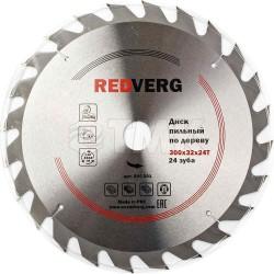 Диск пильный по дереву RedVerg твердосплавный 300х32/30 мм, 24 зуба(800301)