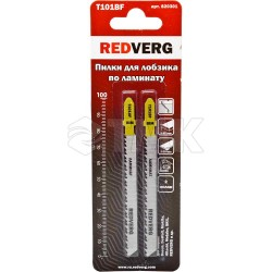 Пилка для лобзика Redverg по ламинату T101BF чистый рез, BIM (2шт )(820301)