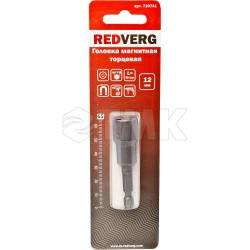 Головка Redverg магнитная торцевая шестигранная 1/4'' 12х65мм(720741)