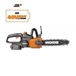 WORX 40V Пила аккумуляторная WG384E.X, 35 см, комплект с 2 АКБ 4 Ah и ЗУ