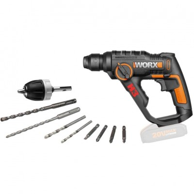 WORX 20V Перфоратор аккумуляторный WX 390.9, без АКБ и ЗУ